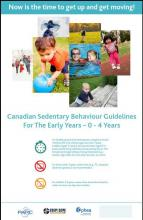 Early Years Sedentary Behaviour Guidelines Poster - Ages 0 to 4