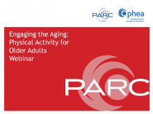 Engaging the Aging: Physical Activity for Older Adults (Webinar)