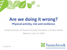Are we doing it all wrong? Physical activity, risk and resilience slide image
